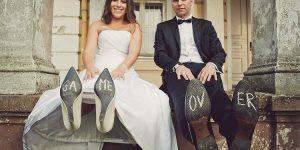Plener ślubny w stadninie i na boisku – Małgosia i Michał