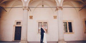 Filmowy plener ślubny w centrum Krakowa.