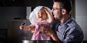 Fotografie portretowe Michała – rewelacyjnego szefa kuchni oraz sesja z córką.