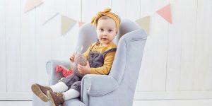 Dziecięca sesja fotograficzna Anielki – w stylu skandynawskim. Sesja studyjna w Częstochowie.