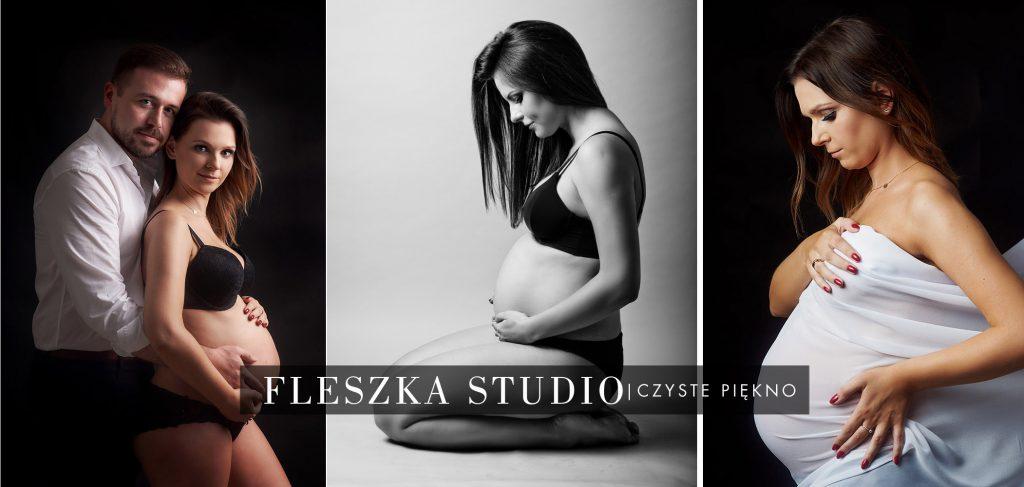 naturalna sesja ciążowa w studio w Częstochowie. Proste i klasyczne stylizacje.